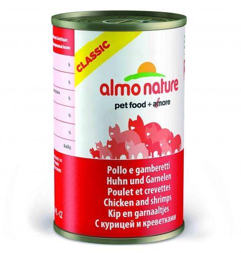 Консервы Almo Nature Classic с курицей и креветками для взрослых кошек