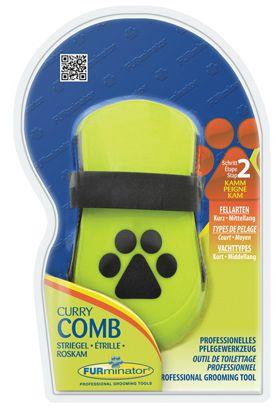 Расческа FURminator Curry Comb резиновая для собак и кошек