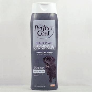 Шампунь и кондиционер 8in1 Perfect Coat Black Pearl Shampoo оттеночный для собак с темной шерстью 473 мл