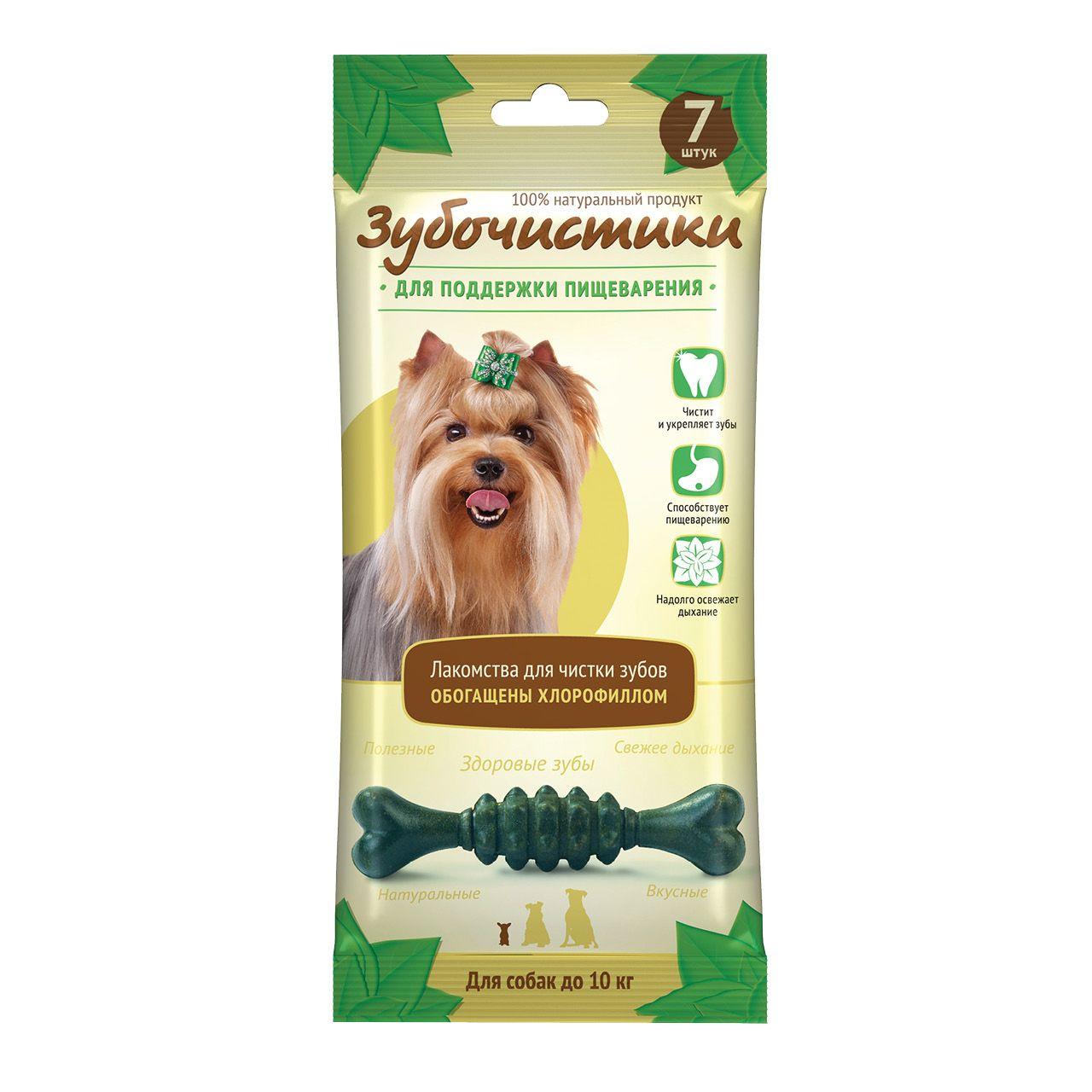 Лакомство Зубочистики Мятные с хлорофиллом для собак мелких пород
