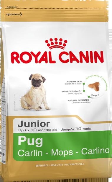 Сухой корм Royal Canin Pug Junior для щенков породы Мопс