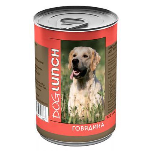 Консерва Dog Lunch для собак Говядина 410гр