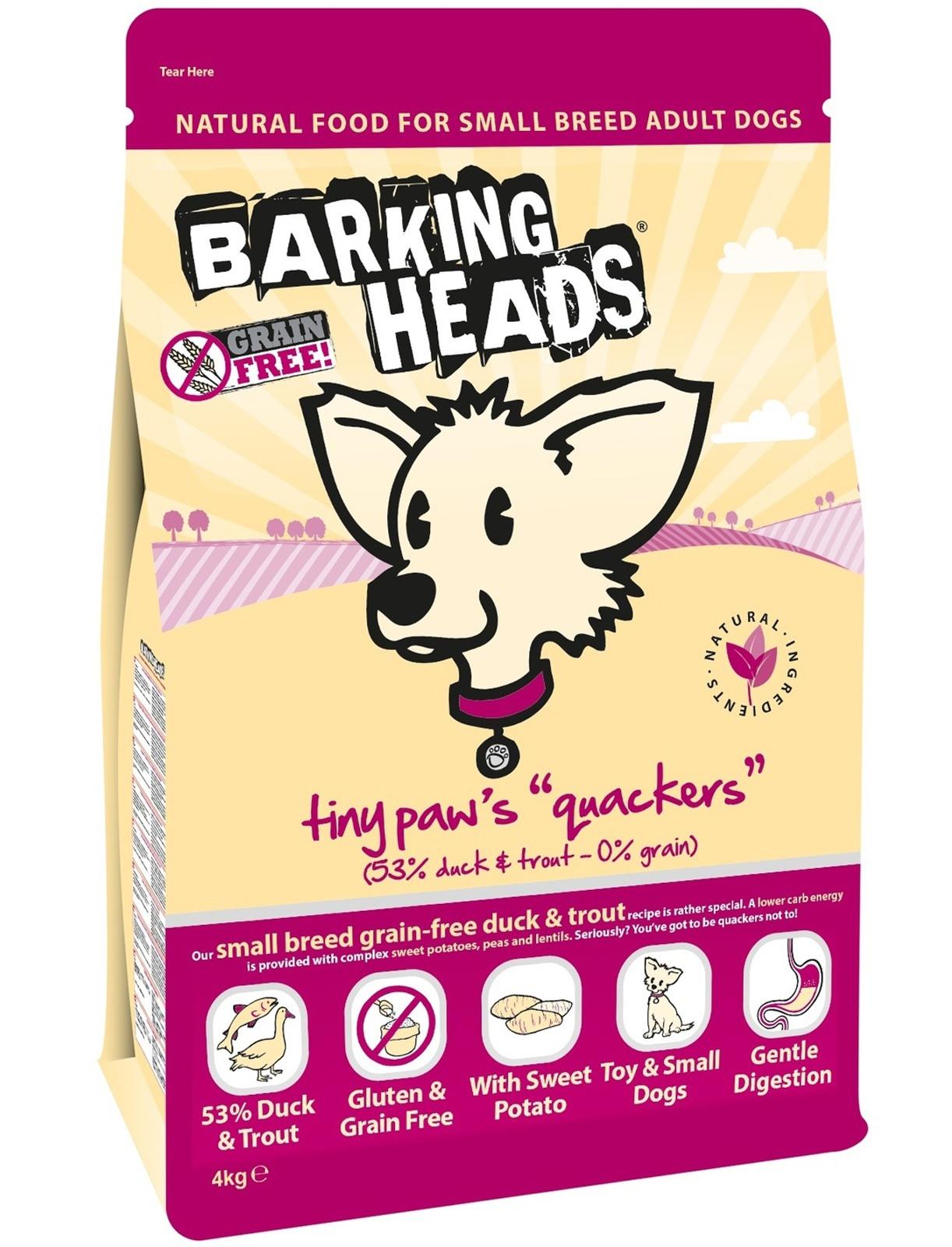 """BARKING HEADS беззерновой корм для собак Малых пород с Уткой и Бататом """"Кряква для Мелколапого"""""""