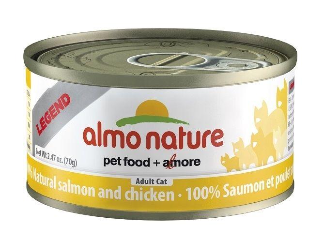 Консервы Almo Nature Legend с лососем и курицей для взрослых кошек