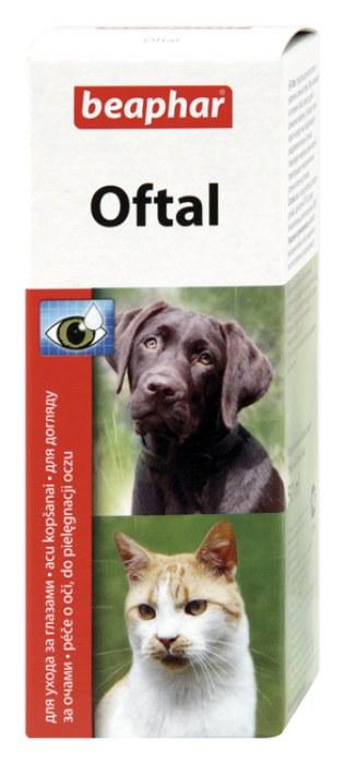 Лосьон Beaphar Oftal Augenpflege для ухода за глазами собак и кошек 50 мл