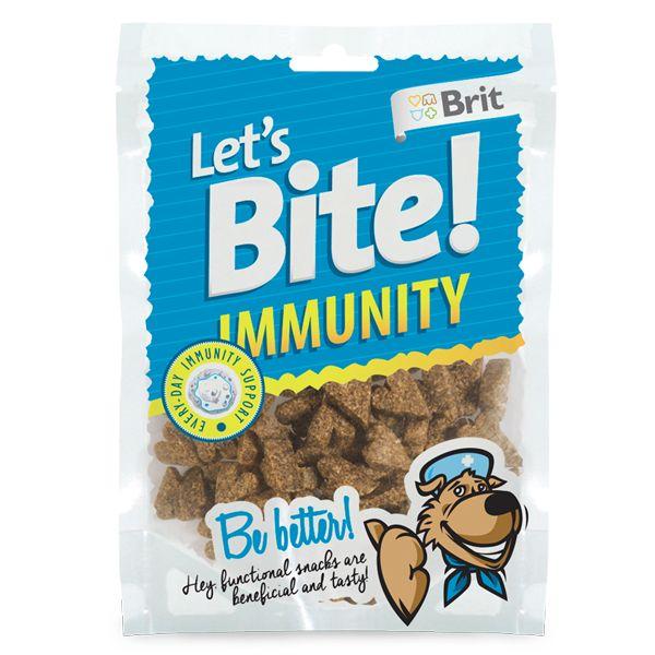 Лакомство Brit Let's Bite Immunity для собак 150 г