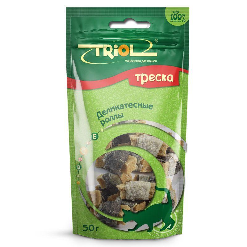 Роллы Triol деликатесные из трески для кошек, 50 г