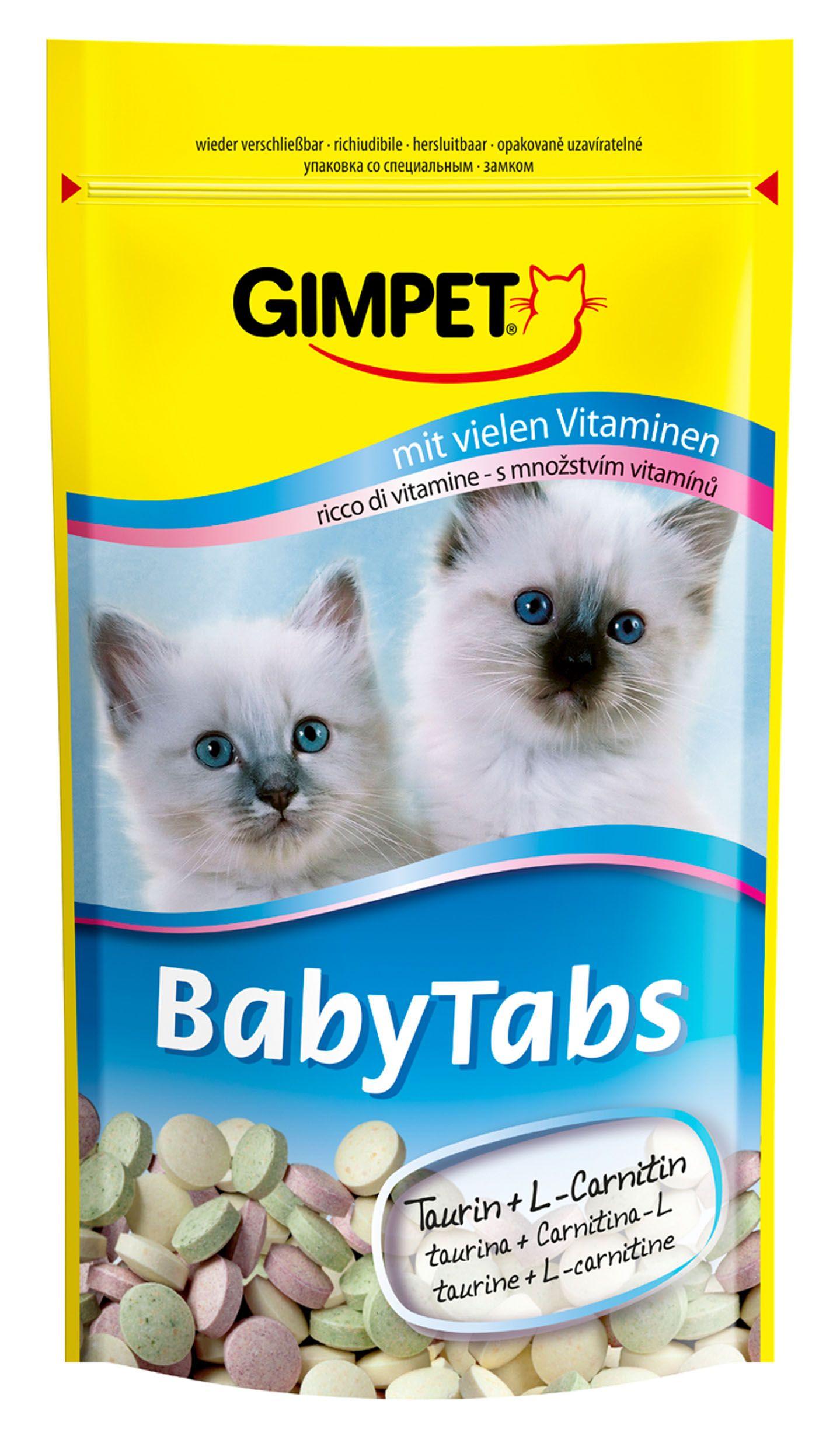 Витаминизированное лакомство Gimpet Baby-Tabs с таурином для котят