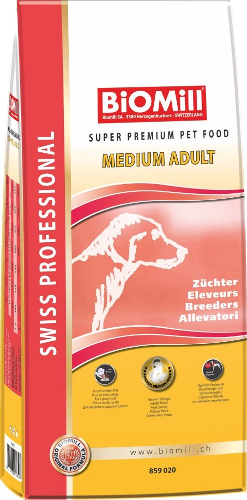 Сухой корм Biomill Professional Breeders Adult Medium для взрослых собак средних и крупных пород