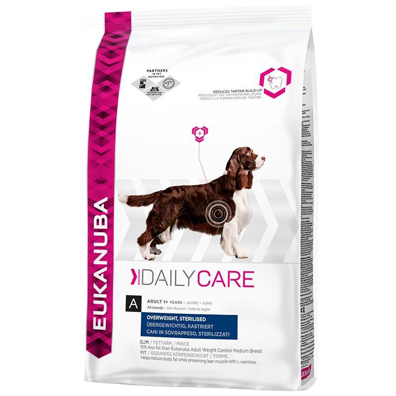 Сухой корм Eukanuba Daily Care Adult Overweight, Sterilised для кастрированных собак всех пород и с избыточным весом