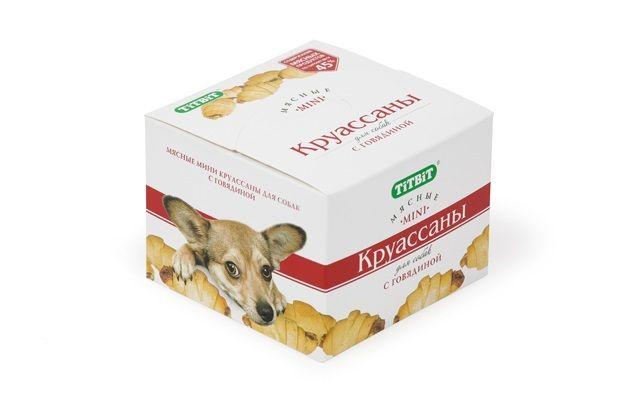 Печенье TiTBiT Круассаны с говядиной для собак 150 г
