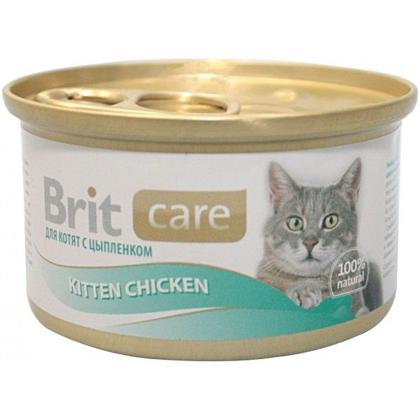 Консервы Brit Care Kitten Chicken с цыпленком для котят