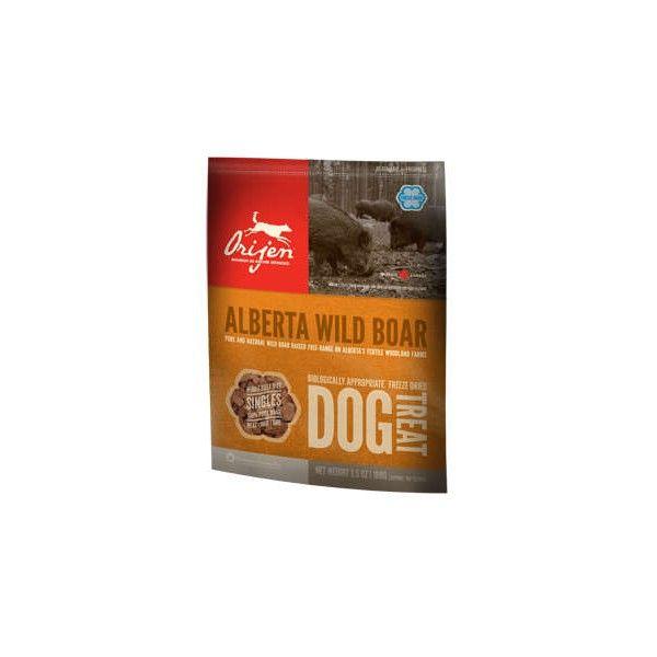 Сублимированное лакомство Orijen Wild Boar с мясом дикого кабана для собак всех пород
