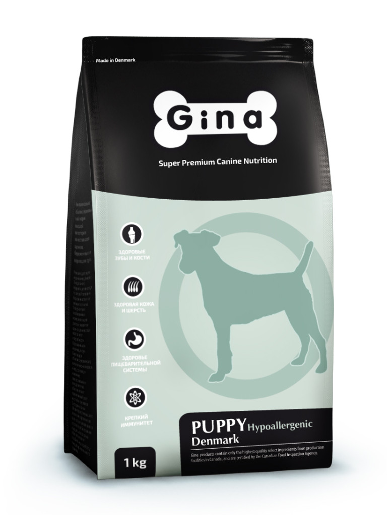 GINA Puppy Hypoallergenic Denmark гипоаллергенный корм для щенков