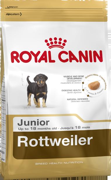 Сухой корм Royal Canin Rottweiler Junior для щенков породы Ротвейлер