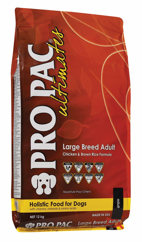 Сухой корм Pro Pac Ultimates Large Breed Adult Chicken Meal&Brown Rice с курицей и коричневым рисом для взрослых собак крупных пород