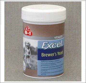 Пивные дрожжи 8in1 Excel Brewer's Yeast для собак и кошек