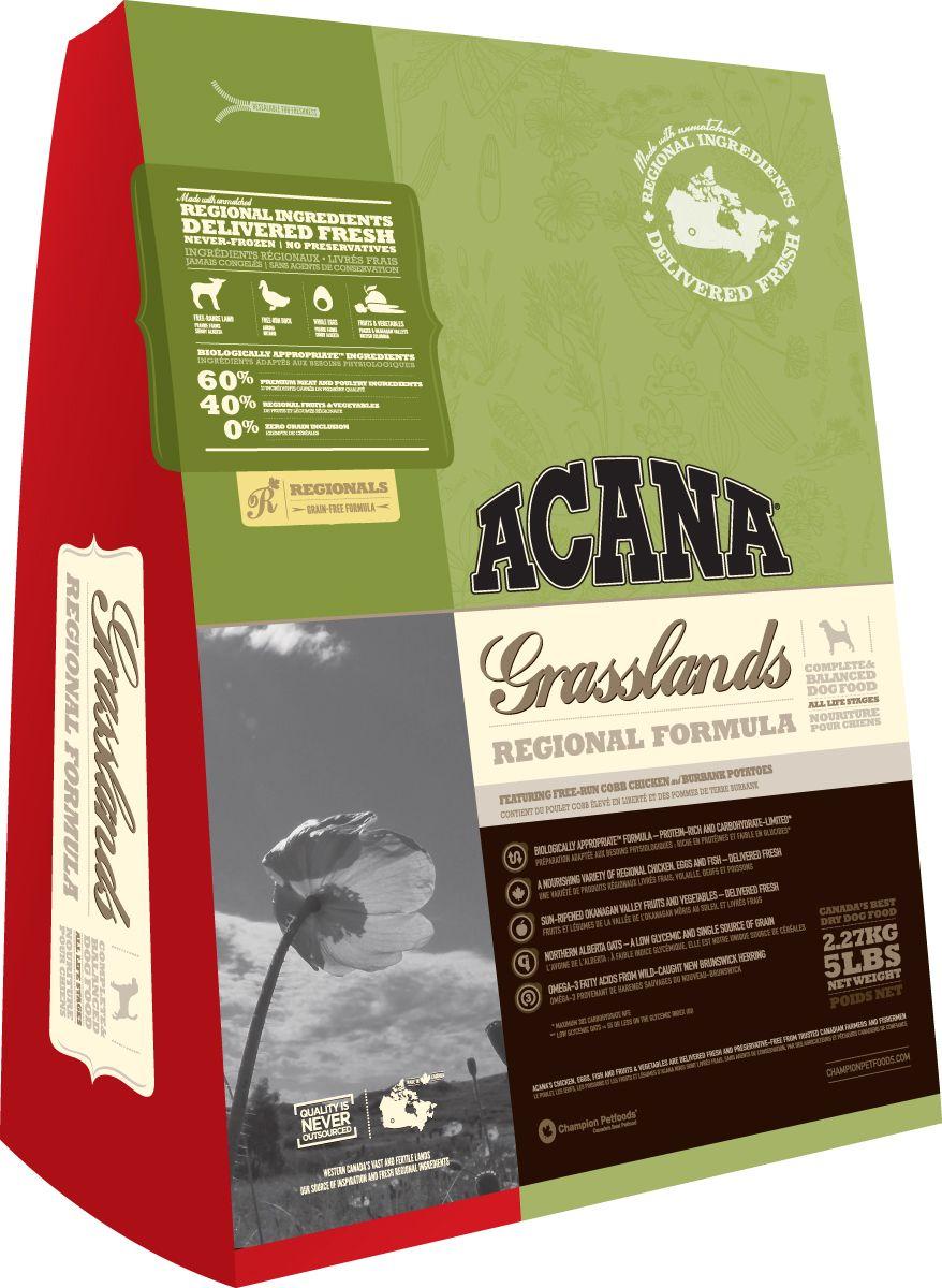 Сухой корм Acana Regionals Grasslands Dog с ягненком беззерновой для собак