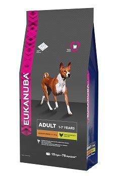 Сухой корм Eukanuba Adult Medium Breed для собак средних пород