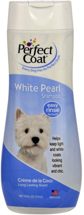 Шампунь-кондиционер 8in1 Perfect Coat White Pearl для собак светлых окрасов 473 мл
