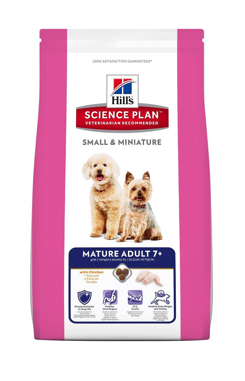 Сухой корм Hill's Science Plan Mature Adult 7+ Small&Miniature со вкусом курицы для пожилых собак миниатюрных пород
