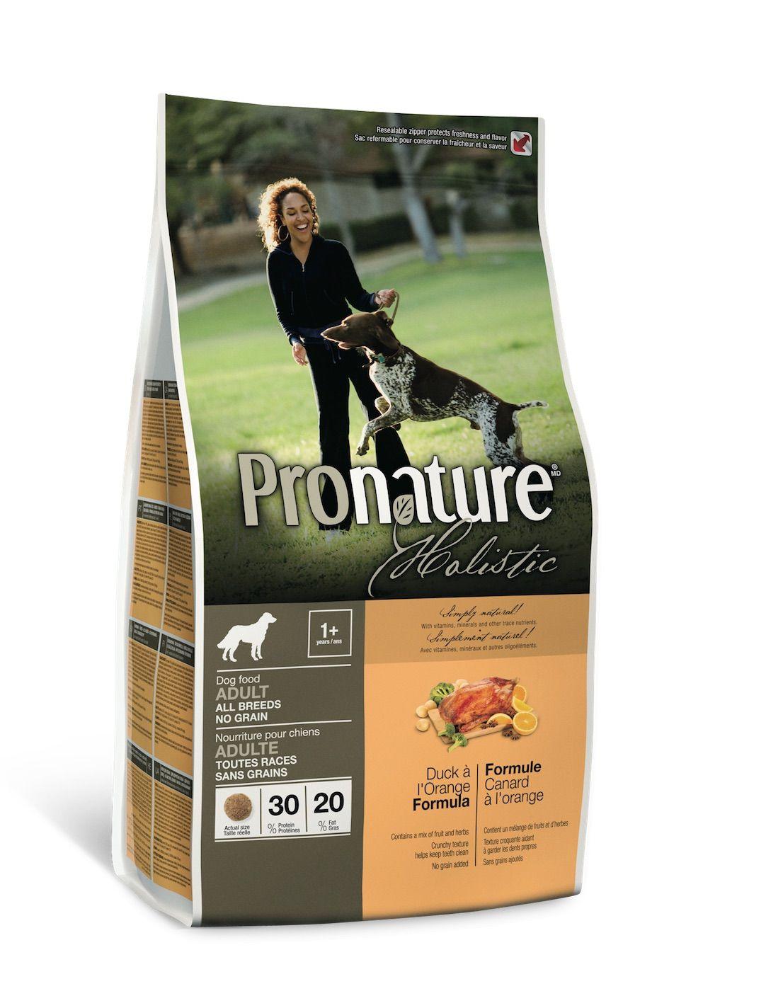 Сухой корм Pronature Holistic беззерновой с уткой и апельсином для собак