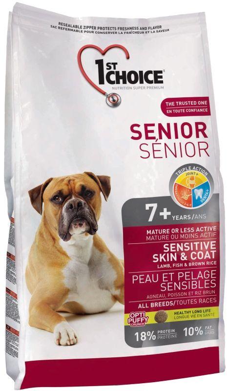 Сухой корм 1st Choice Senior Sensitive Skin&Coat для пожилых собак с чувствительной кожей и шерстью