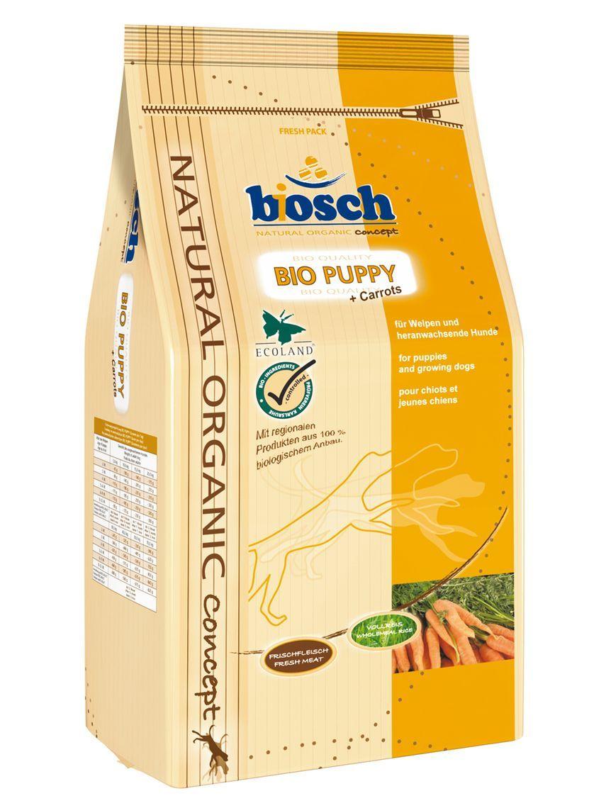 Сухой корм Bosch Bio Puppy органический с морковью для щенков