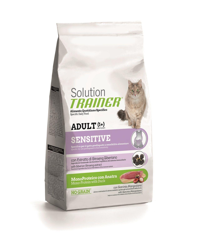 Сухой корм Trainer Solution Sensitive с уткой для чувствительных и склонных к аллергии кошек