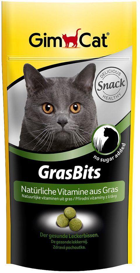Лакомство Gimcat GrasBits витаминизированное с травой для кошек 40г