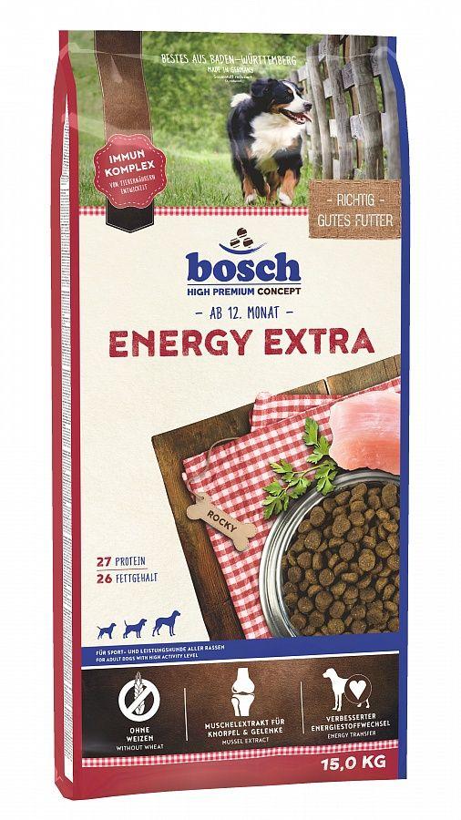 Сухой корм Bosch Energy Extra для очень активных собак 15 кг