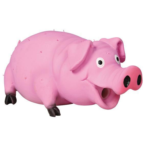 Игрушка Trixie Свинья с щетиной для собак 21 см