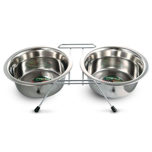 Миски Triol металлические на подставке для собак