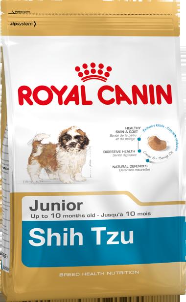 Сухой корм Royal Canin Shih Tzu Junior для щенков породы Ши-Тцу