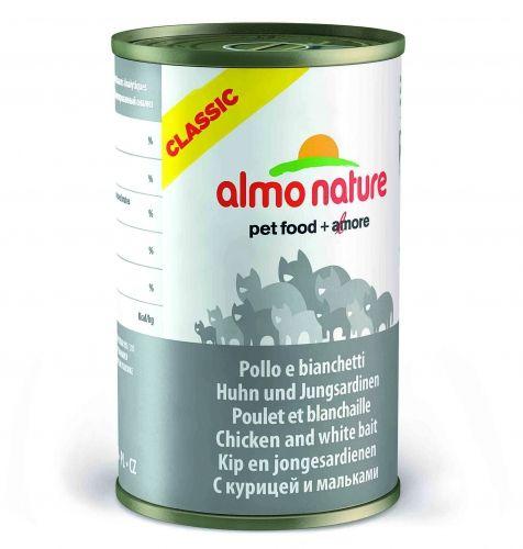 Консервы Almo Nature Classic с курицей и сардинками для взрослых кошек