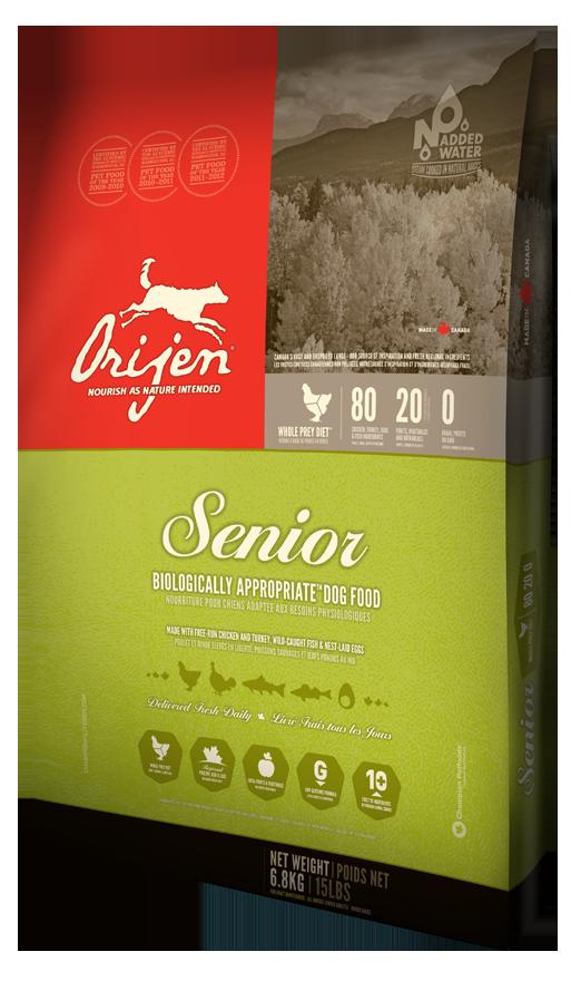 Сухой корм Orijen Senior 80/20 для пожилых собак