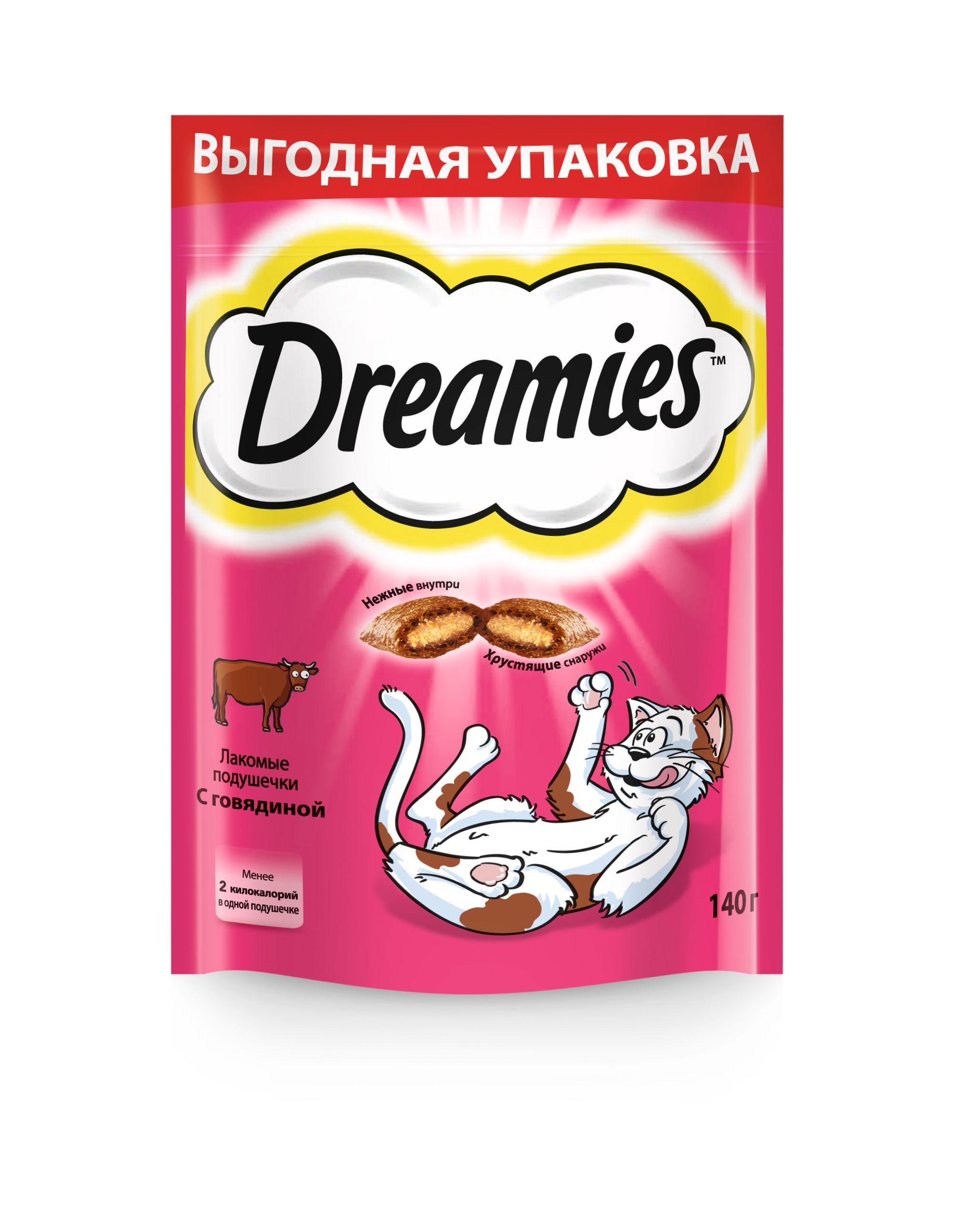 Лакомство Dreamies подушечки для кошек
