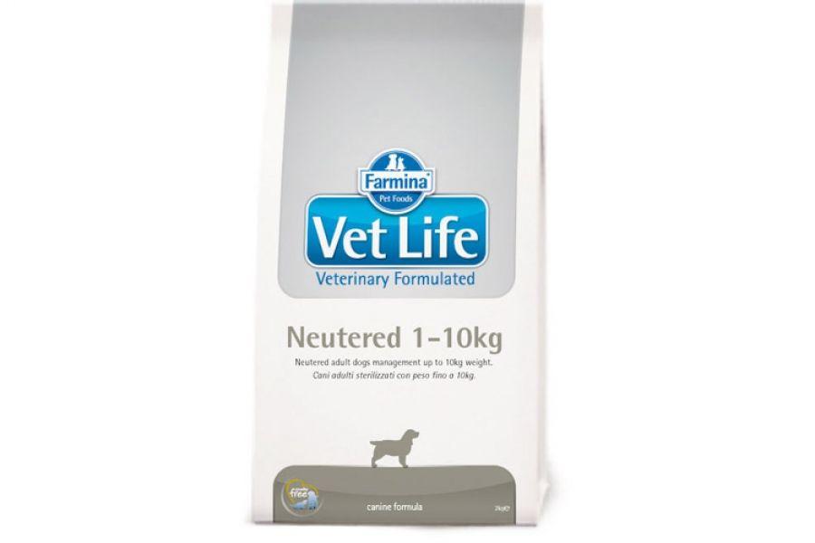 Сухой корм Farmina Vet Life Dog Neutered для стерилизованных сук и кастрированных кобелей до 10 кг