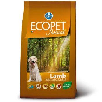 Сухой корм Farmina Ecopet Natural Lamb для взрослых собак с проблемами пищеварения и аллергией, со вкусом ягненка