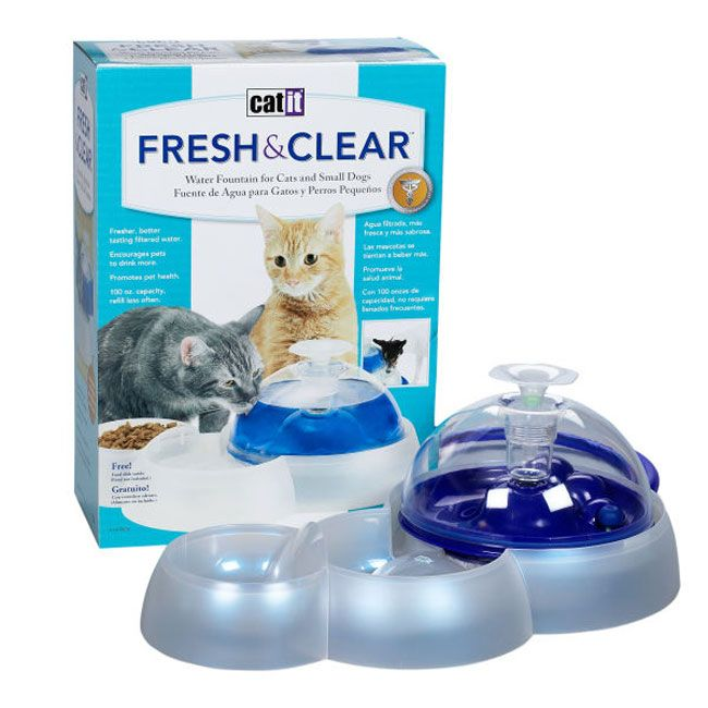 Питьевой фонтанчик Hagen Catit Fresh&Clear для кошек 3 л
