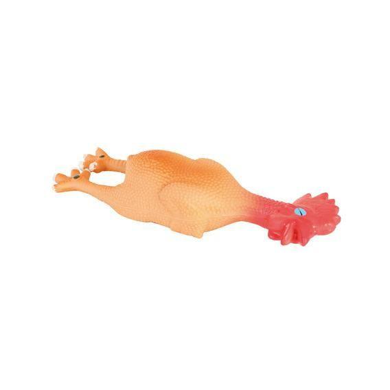 Игрушка Trixie Петух с пищалкой для собак 15 см