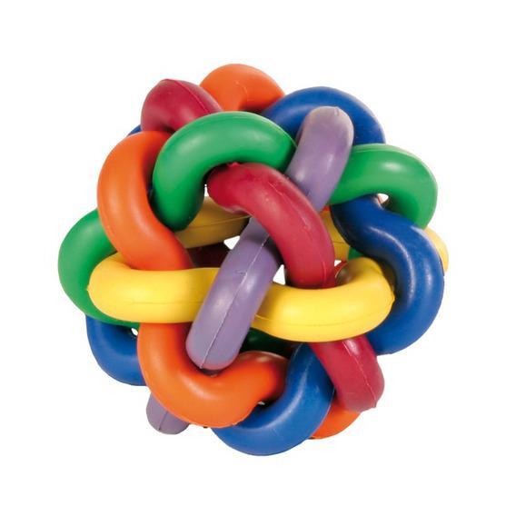 Игрушка Trixie Мяч плетеный каучуковый для собак