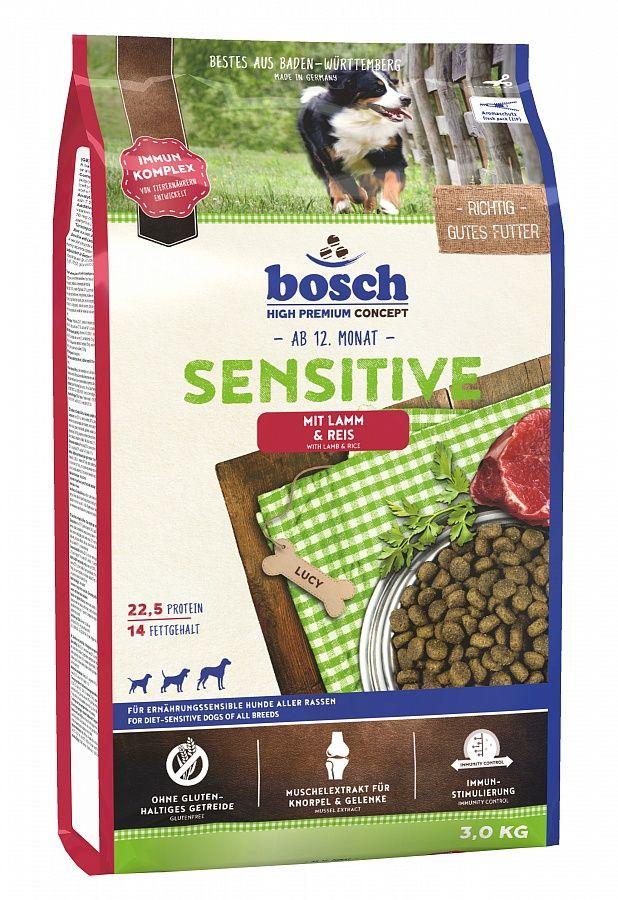 Сухой корм Bosch Sensitive Lamb&Rice для собак с чувствительном пищевареним