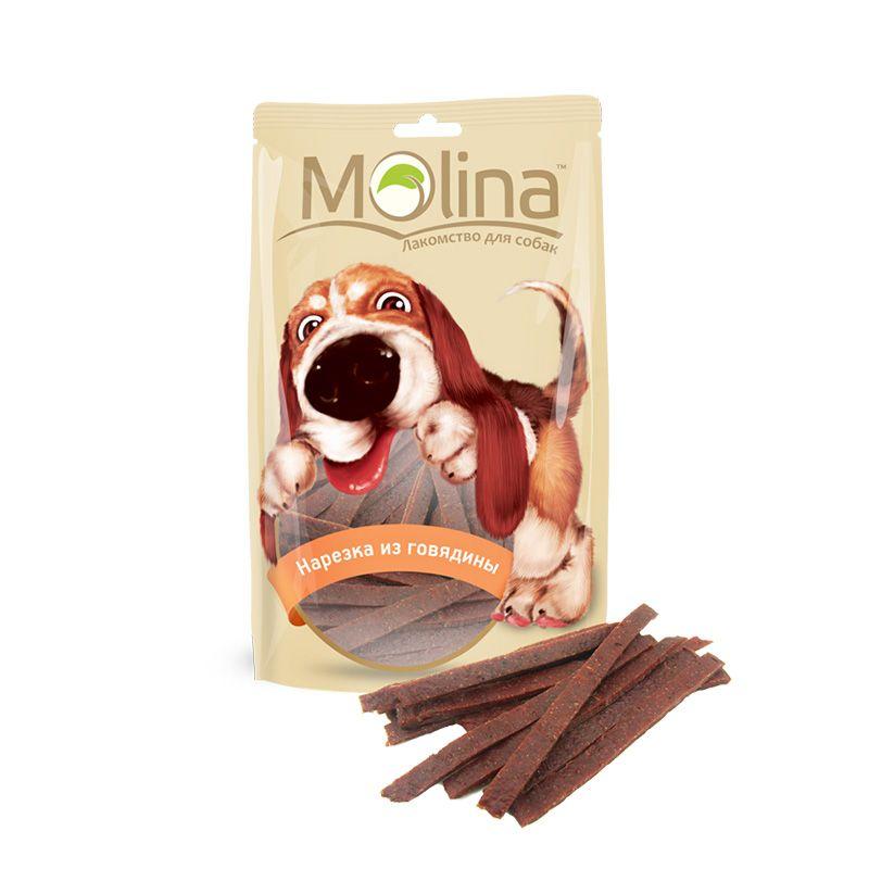 Лакомство Molina Нарезка из говядины для собак 80 г
