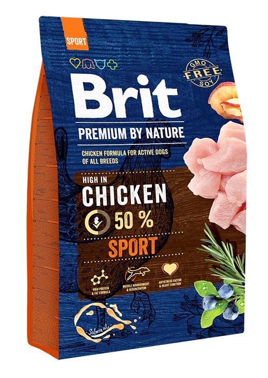 Сухой корм Brit Premium by Nature Sport для активных собак всех пород