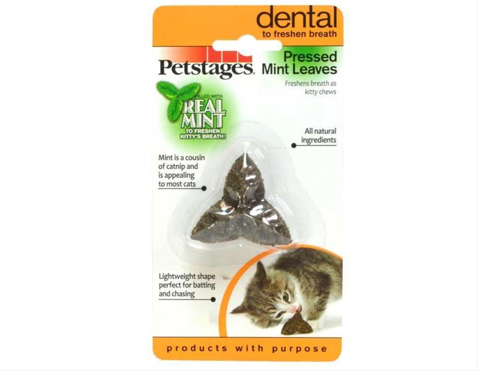 Игрушка Petstages Pressed Mint Leaves из прессованных листьев кошачьей мяты для кошек