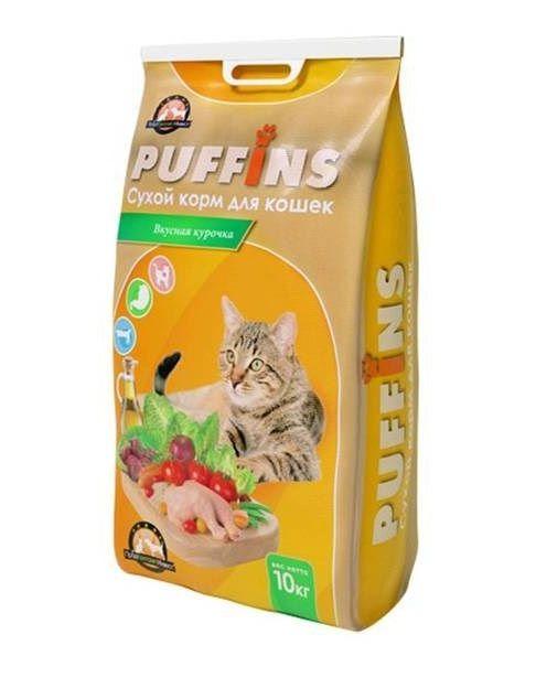 Сухой корм Puffins для кошек