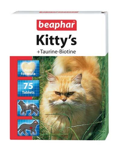 Витамины Beaphar Kitty's для кошек Сердечки, Таурин+Биотин
