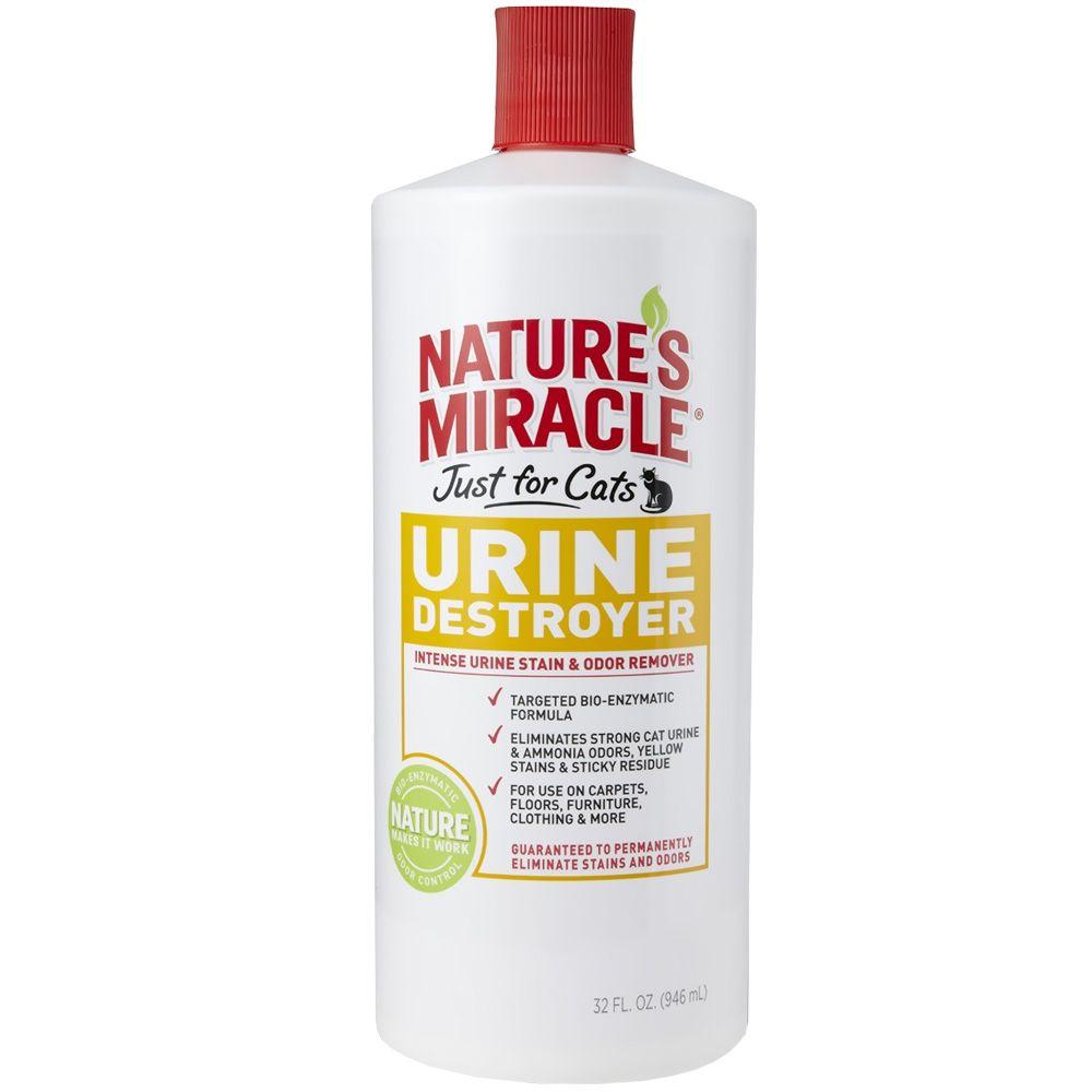 Уничтожитель пятен, запахов и осадка от мочи 8in1 Nature's Miracle Just For Cats Urine Destroyer 945 мл