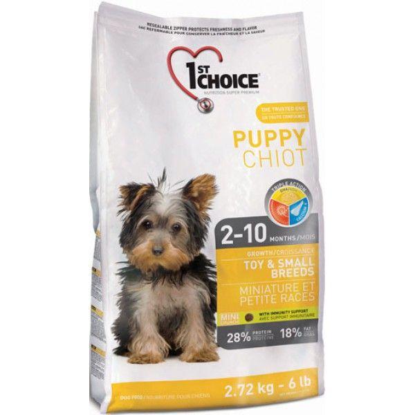 Сухой корм 1st Choice Puppy Toy&Small Breeds для щенков миниатюрных и мелких пород